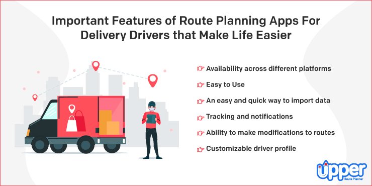 Important Features of Route Planning Apps for Delivery Drivers