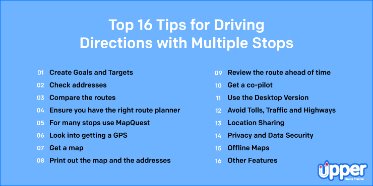 Top 16 Tips for Driving Directions with Multiple Stops
