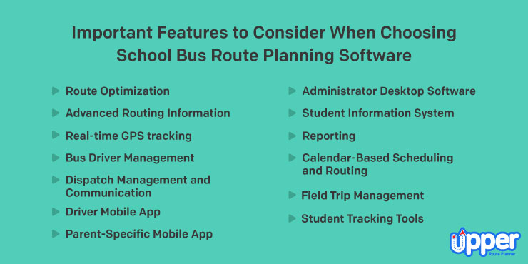 Features to Consider When Choosing School Bus Route Planning Software