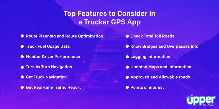 Top Features to Consider in a Trucker GPS App