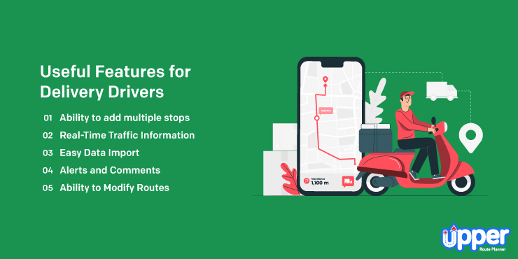 Useful Features for Delivery Drivers