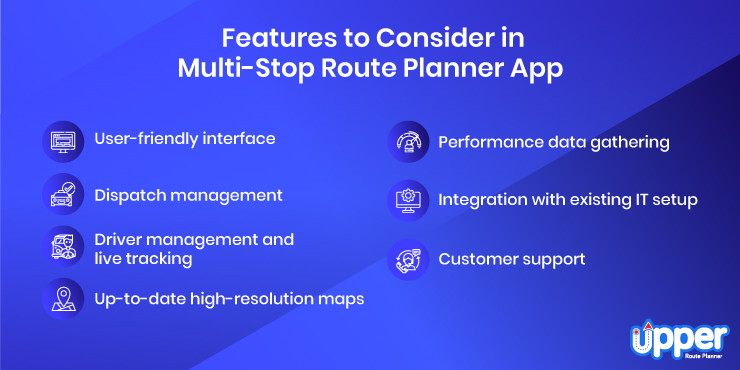 Features to Consider in Multi-stop Route Planner App
