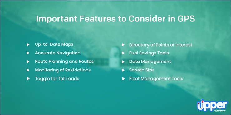 Important Features to Consider in GPS