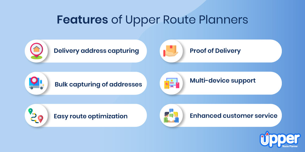 Features of Upper Route Planner