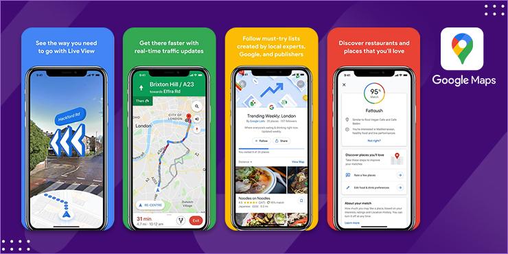 Google Maps – Daily Commute, Short Trips