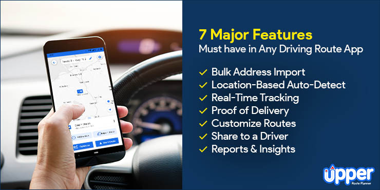 7 Major Features Must Have in Any Driving Route App