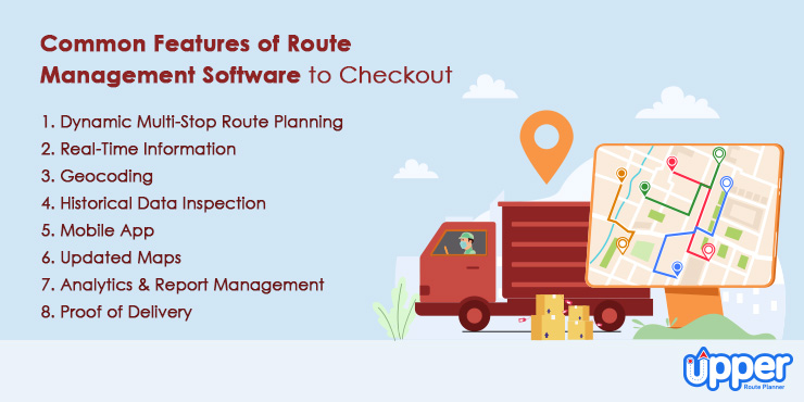 Common Features of Route Management Software to Checkout
