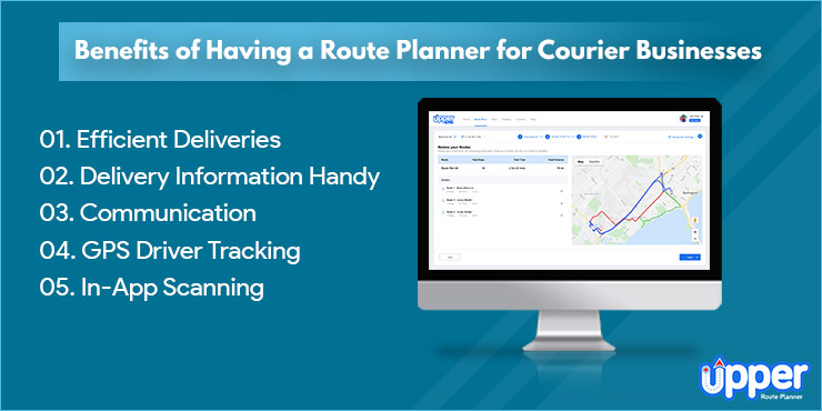 Benefits of Having a Route Planner for Courier Businesses