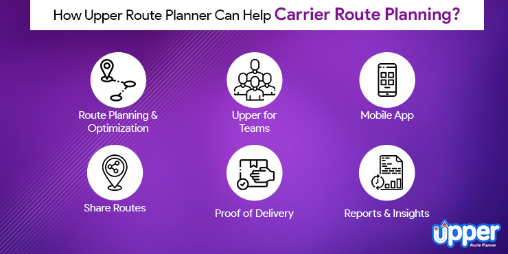 How Upper Route Planner Can help Carrier Route Planning