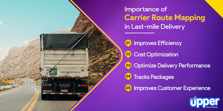 Importance of Carrier Route Mapping in Last-mile Delivery