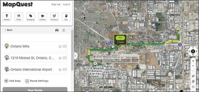 Satellite Map View - Mapquest
