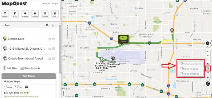 Traffic Check - Mapquest