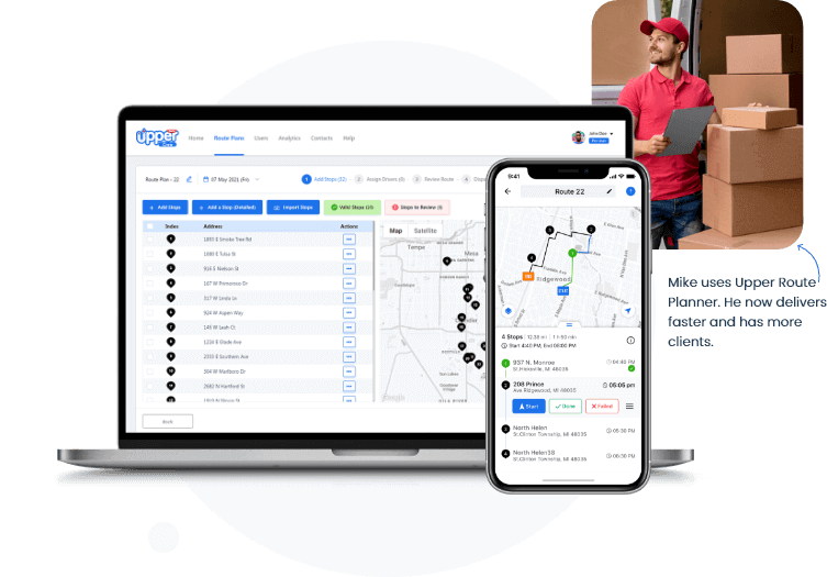 Upper Delivery Route Planner
